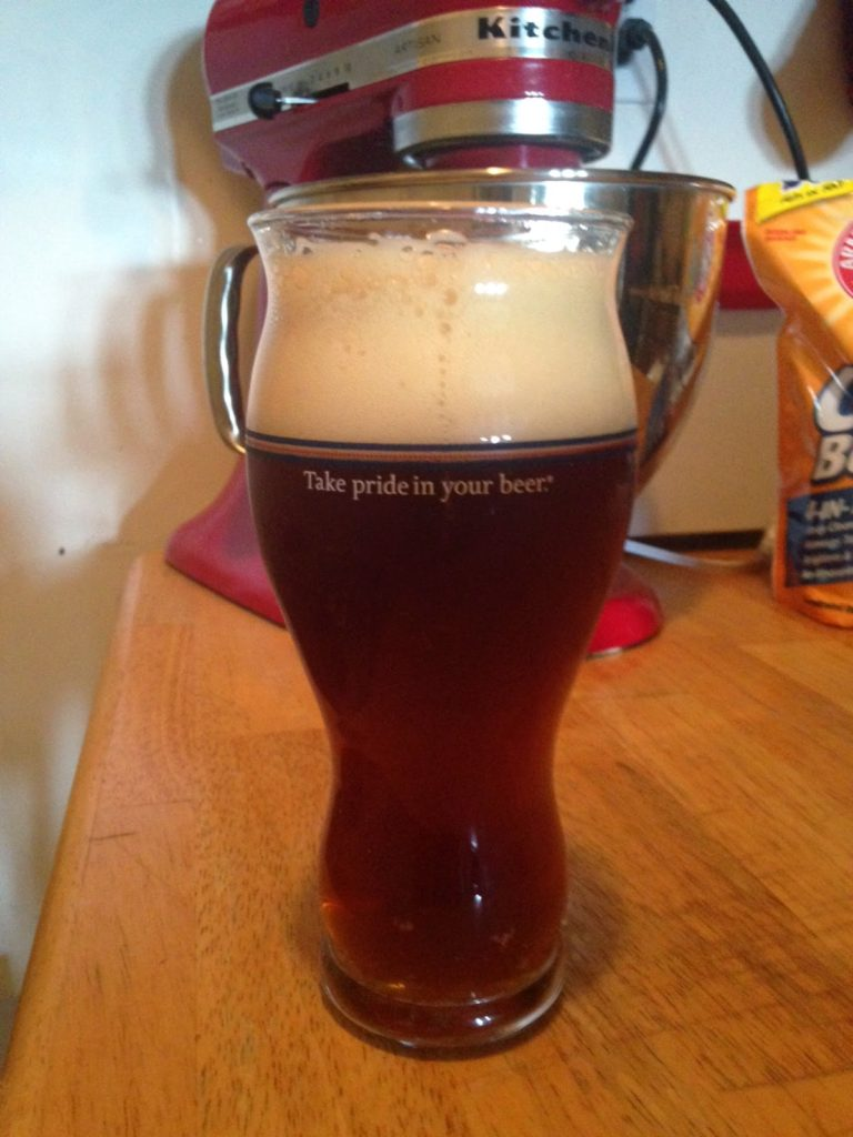 Amber Ale in glass