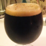 oak aged porter in glass