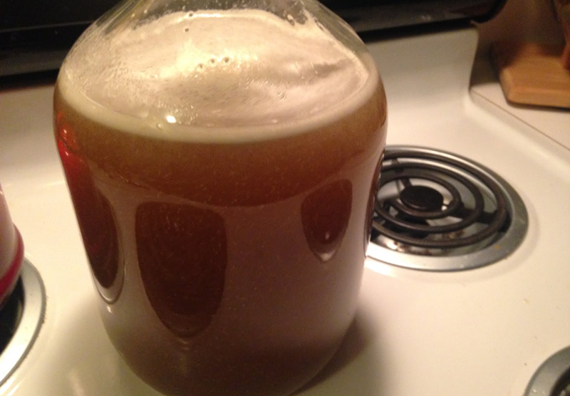 sweet honey mead fermenting