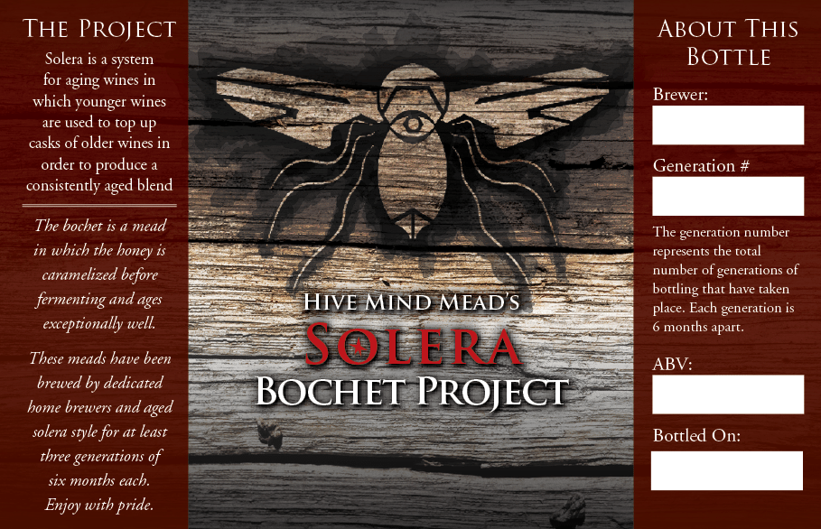 Hive Mind Mead's Bochet Solera Project