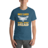 Teal Obey the Bees make more mead meadmaking t-shirt